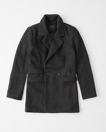 ANFWool-Blend Blazer Coat