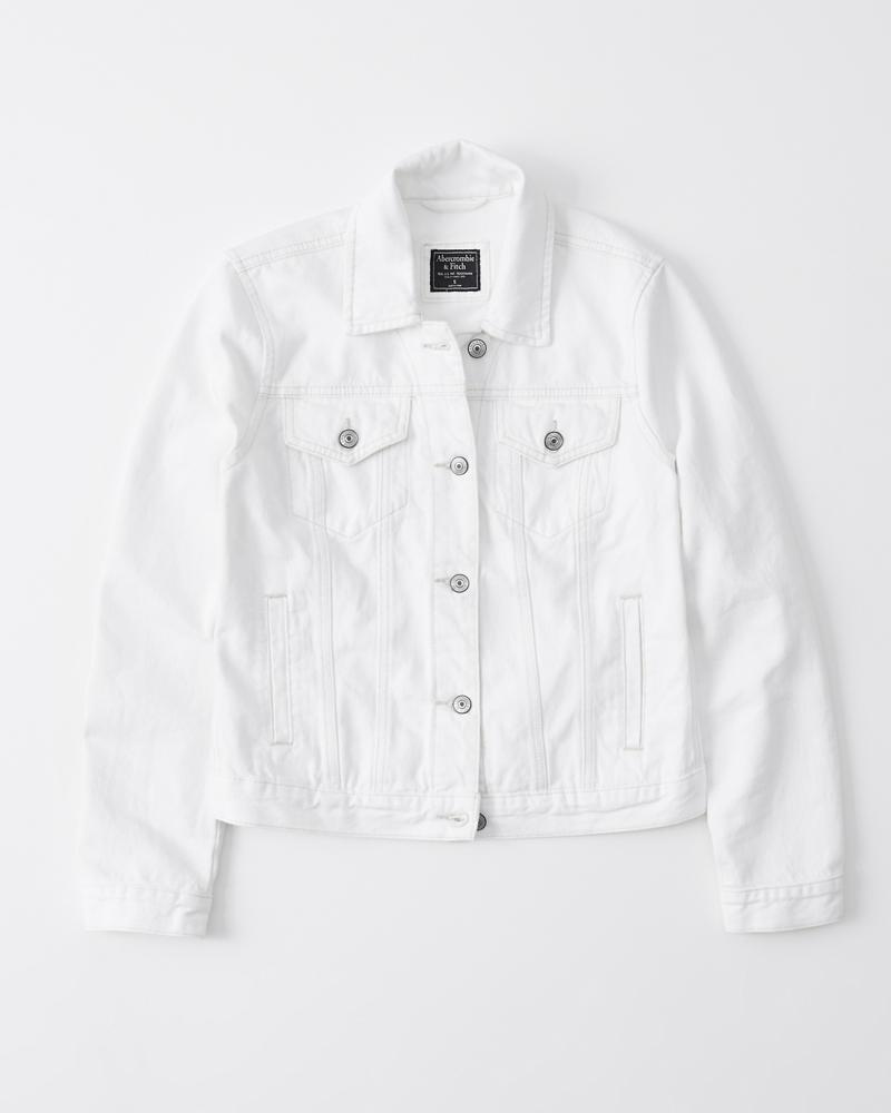 buy online 09fac 4bc9f Damen Weiße Jeansjacke | Damen Jacken und Mäntel ...