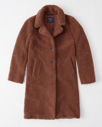 ANFSherpa Fleece Dad Coat