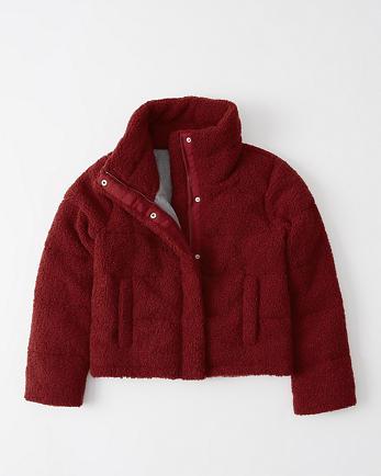 ANFMini Sherpa Fleece Puffer Jacket