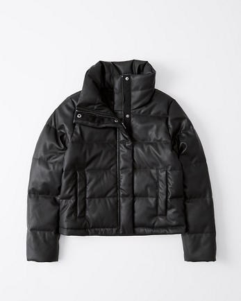 ANFMini Faux-Leather Puffer Jacket