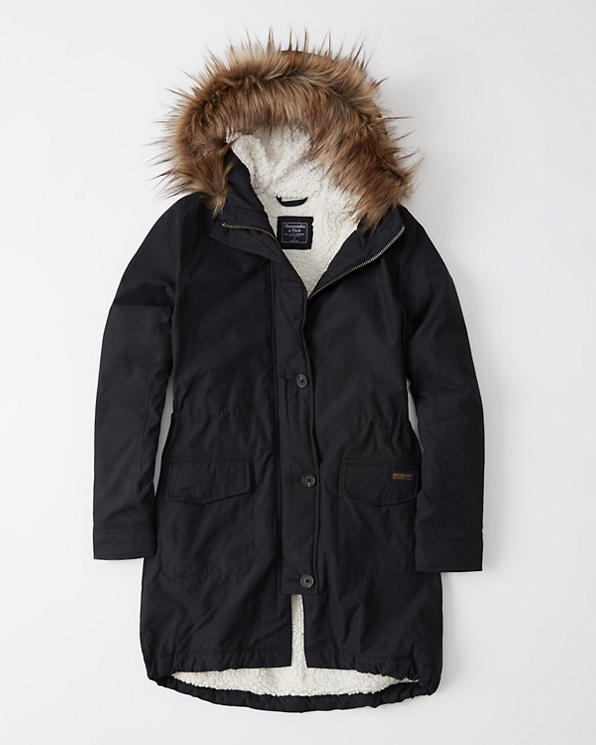 Womens Sherpa Lined Military Parka | Womens Coats