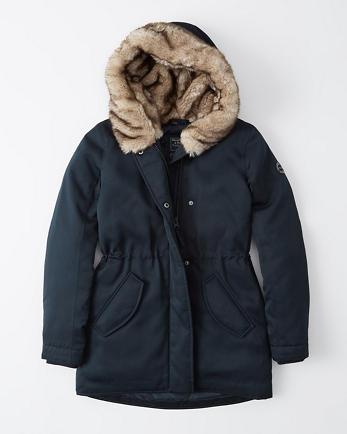 ANFFaux Fur Hooded Parka