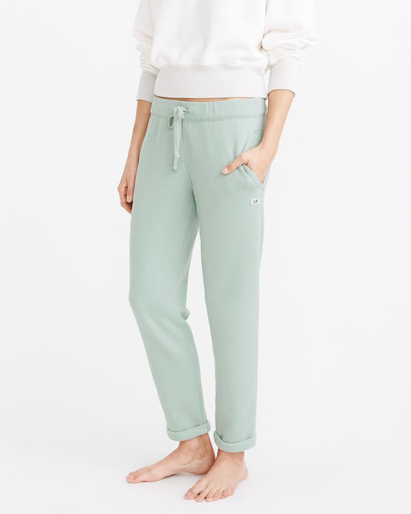 Womens Cozy Rolled Sweatpants | Womens Bottoms | Abercrombie ca
