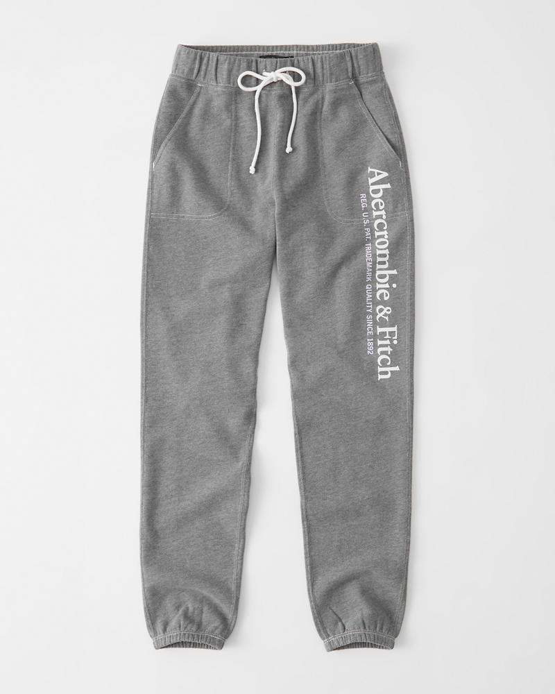 7bbec56ac2 Womens Banded Logo Sweatpants | Womens Bottoms | Abercrombie.com