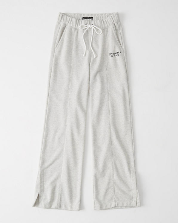 select for original beautiful and charming durable modeling Womens Wide-Leg Sweatpants   Womens Clearance   Abercrombie.com