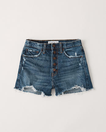 ANFHigh Rise Mom Shorts