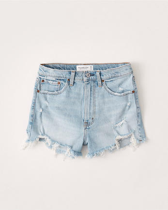 ANFHigh Rise Mom Shorts