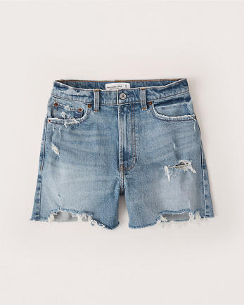 ANFHigh Rise 4 Inch Mom Shorts