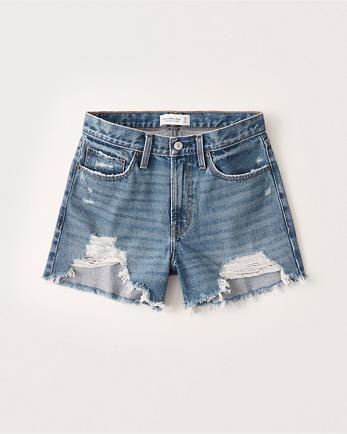 ANFMid Rise Boyfriend Shorts