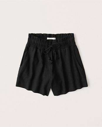ANFLinen-Blend Tassel Shorts