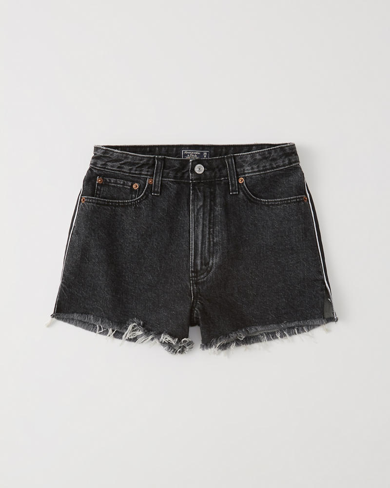 High Rise Girlfriend Jeans Shorts by Abercrombie & Fitch