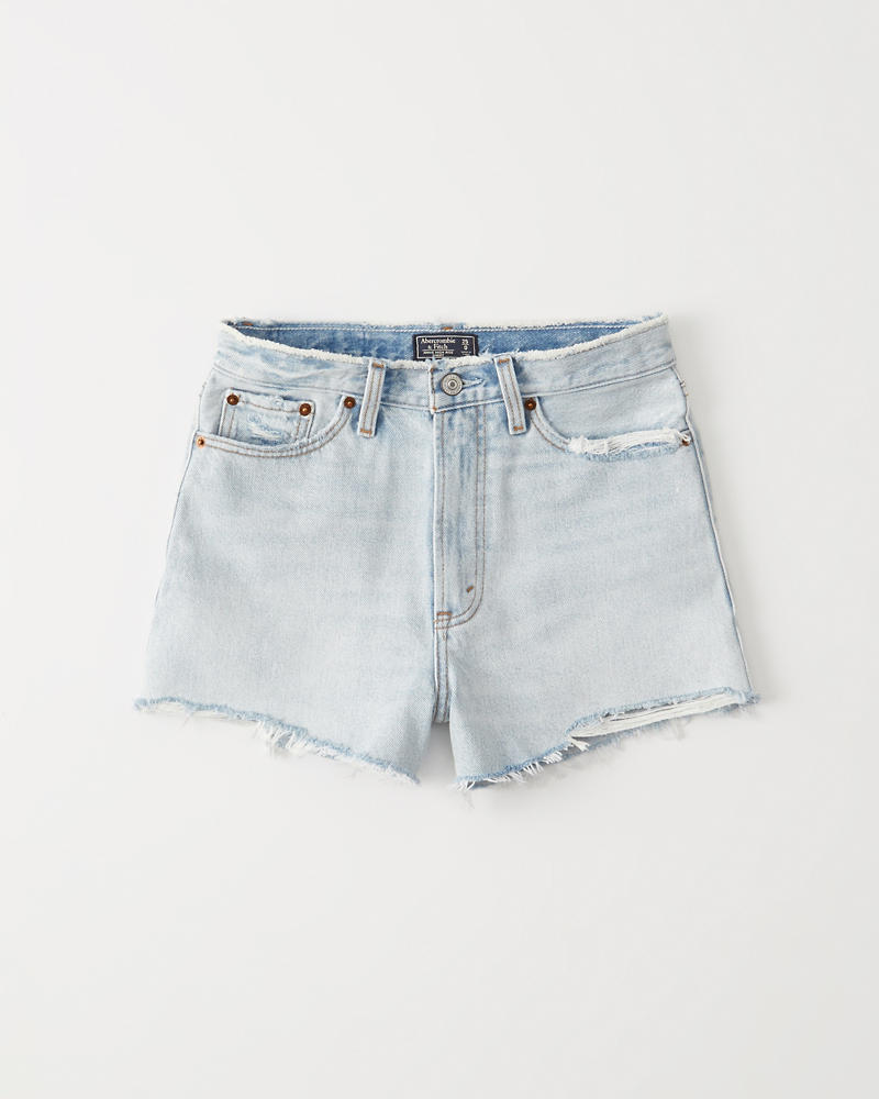 85a71cb4a Womens High Rise Denim Shorts | Womens Clearance | Abercrombie.com