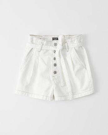 ANFPaperbag Waist Denim Shorts