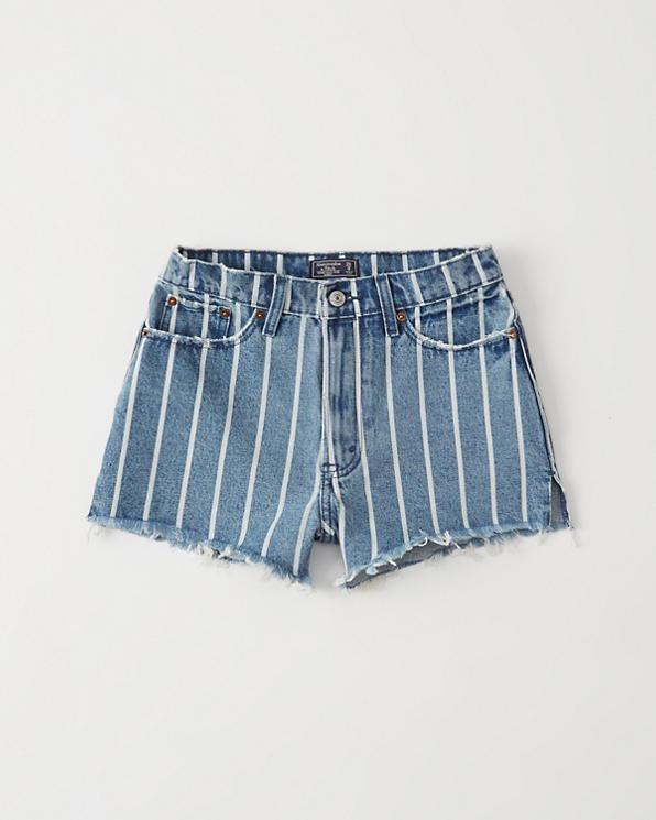 7dded2a492acd Femme Short en jean taille haute | Femme Bas | Abercrombie.com