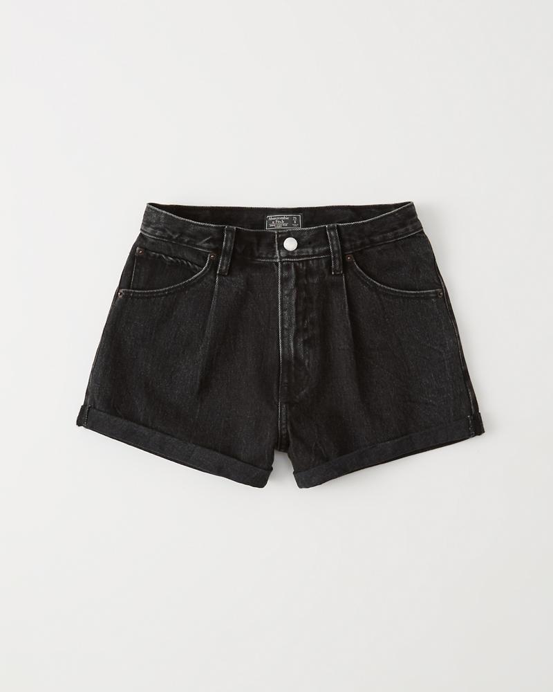 0da6ac5528 Womens Pleated Denim Shorts