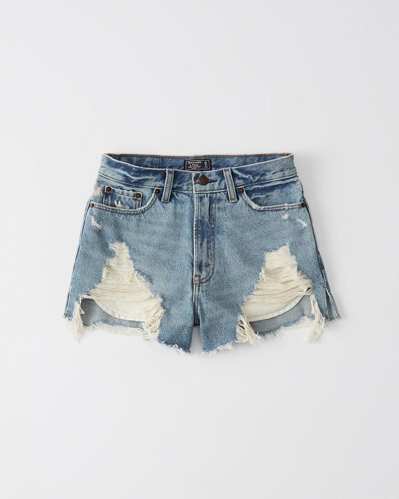 e3f177c614f Womens High Rise Denim Shorts | Womens Clearance | Abercrombie.com