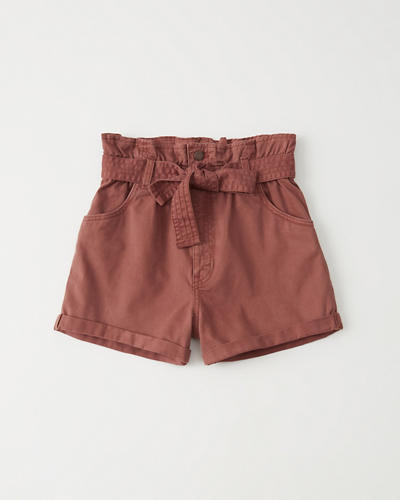 Belted Twill Shorts by Abercrombie & Fitch