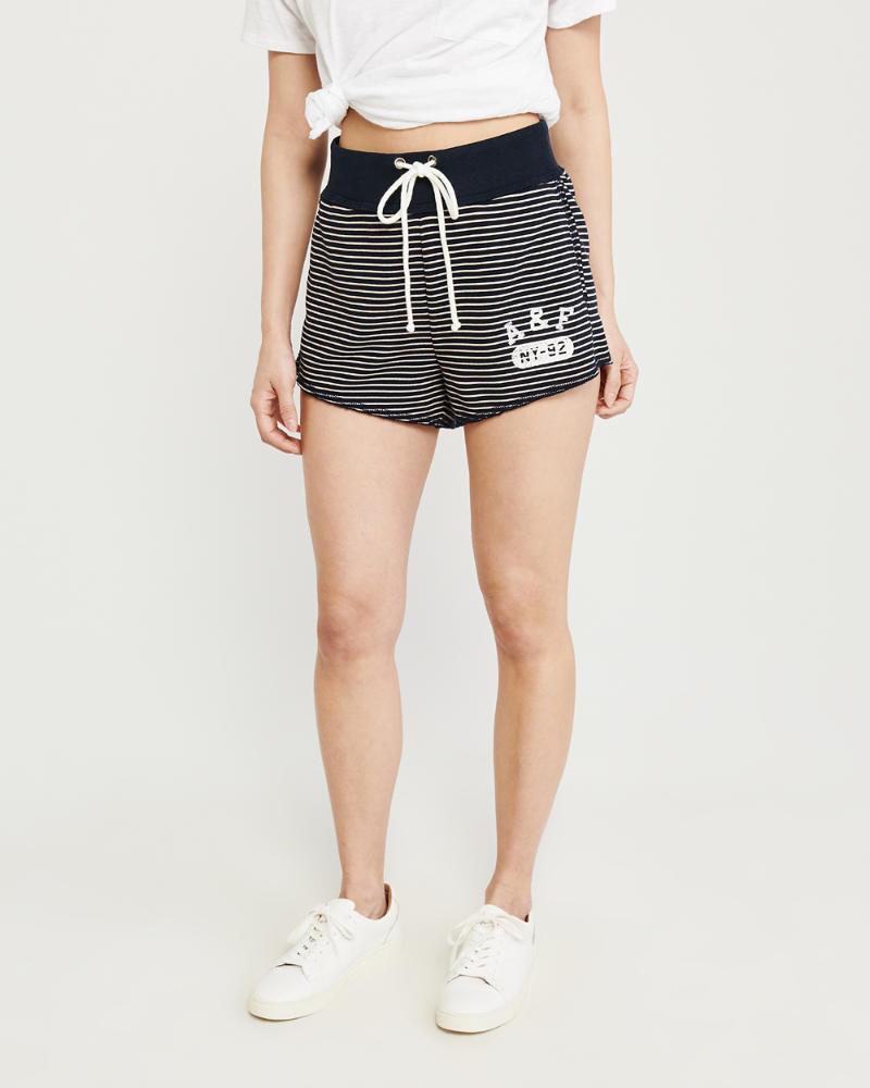545d2261a8 Femme Short taille haute en maille | Femme Bas | Abercrombie.com