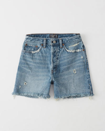 432a2bce14 Womens High Rise Mid-Length Denim Shorts | Womens Bottoms ...