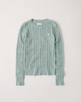 ANFIcon Cable Knit Crewneck Sweater