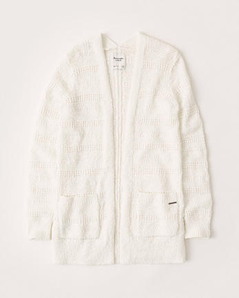 ANFStitchy Open-Front Cardigan