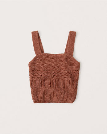 ANFSquare Neck Sweater Tank
