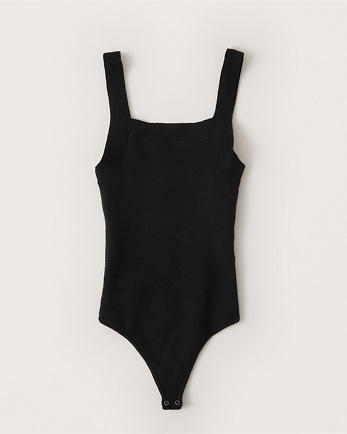 ANFSquare-Neck Knit Bodysuit