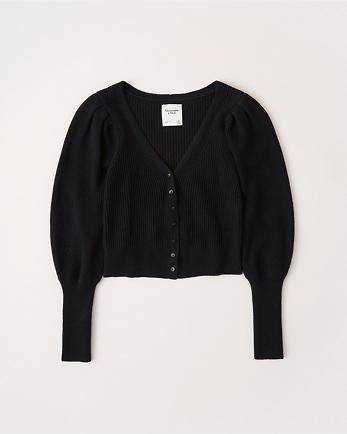 ANFPuff Sleeve Cardigan