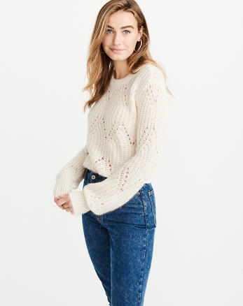 Lofty Puff Sleeve Crew Sweater bc7cbaf68