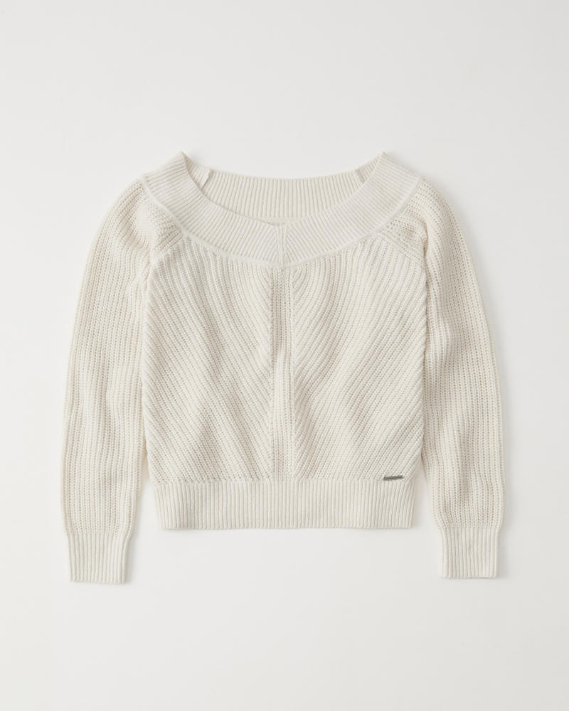 Womens The A&F Off-The-Shoulder Sweater   Womens Tops   Abercrombie.com