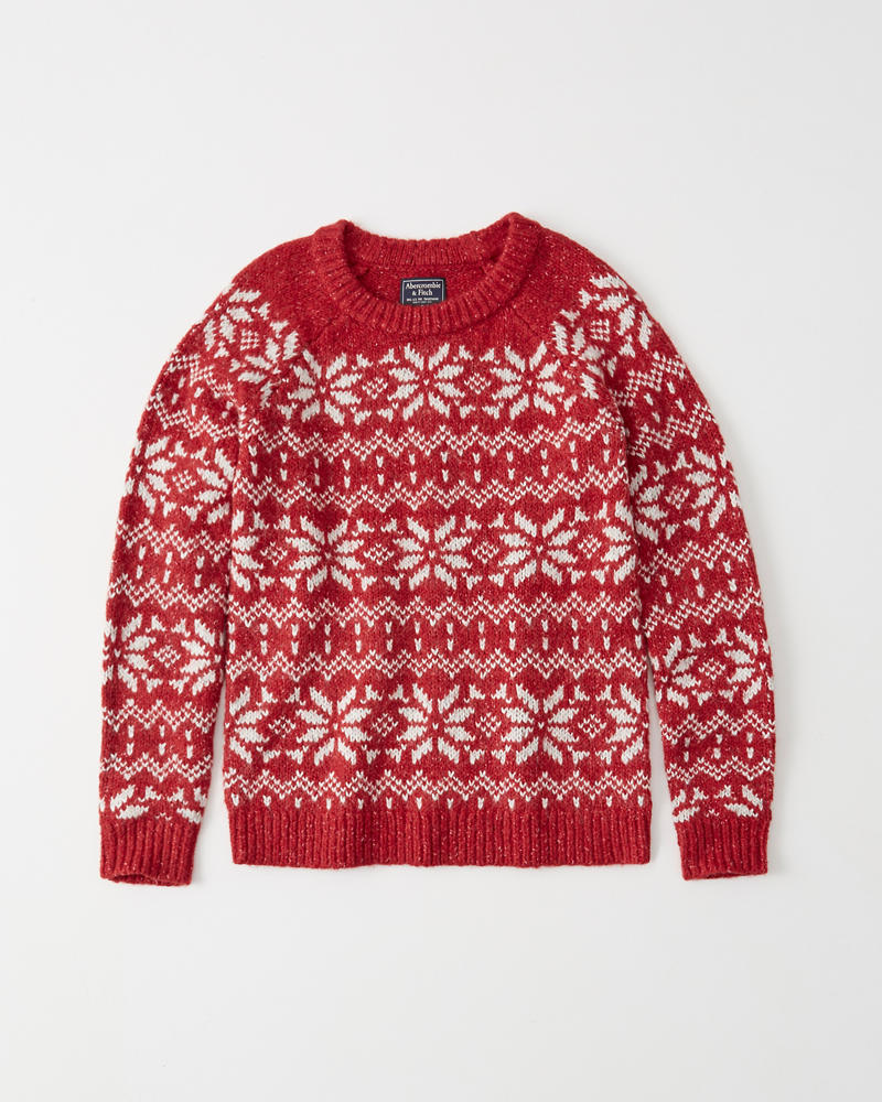 Holiday Pattern Sweater by Abercrombie & Fitch