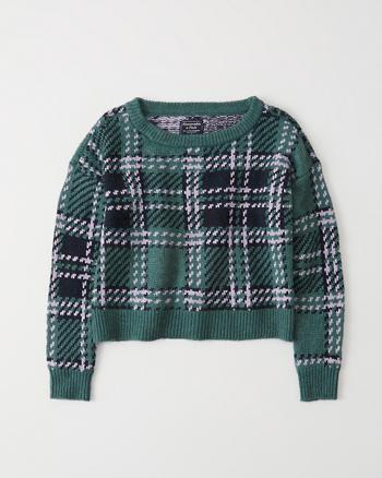 0e5b11a2e192 Womens Plaid Crewneck Sweater | Womens Clearance | Abercrombie.com