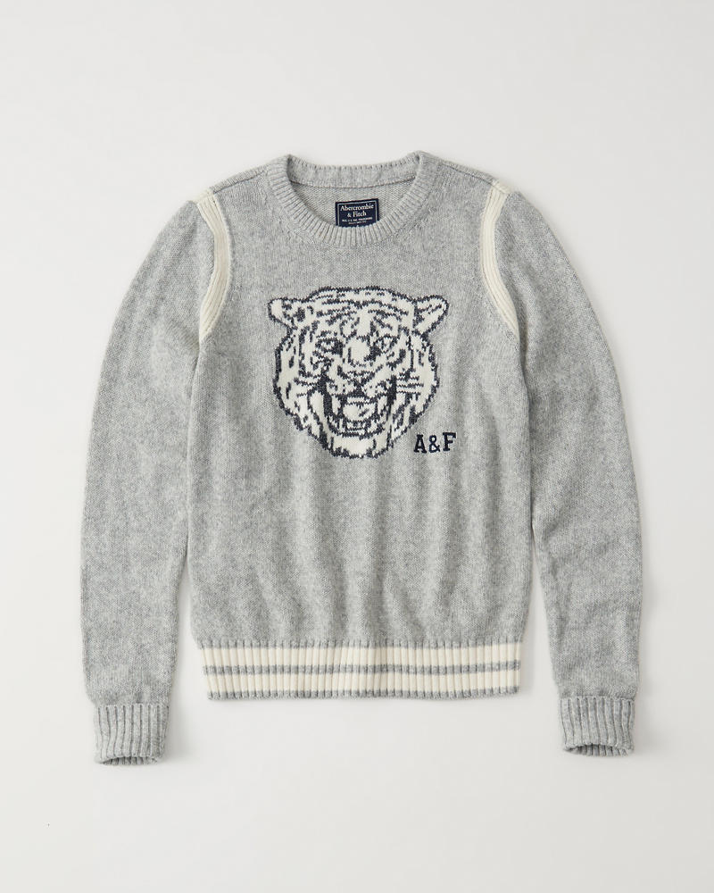 Mascot Crew Sweater by Abercrombie & Fitch