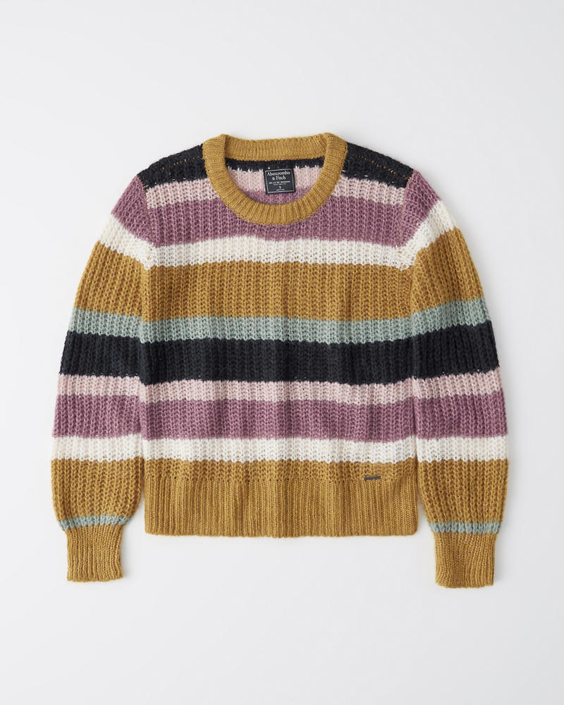 Lofty Puff Sleeve Crew Sweater by Abercrombie & Fitch