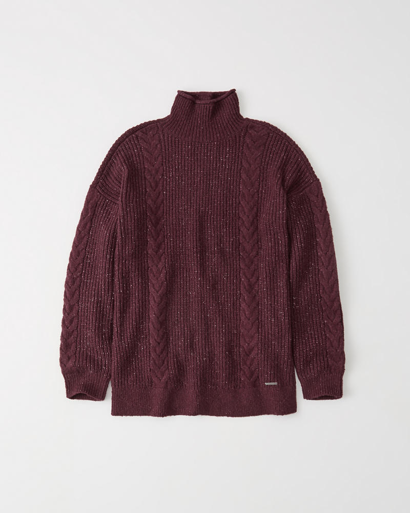 91e2b919c7 Womens Long Turtleneck Sweater | Womens Sale | Abercrombie.com