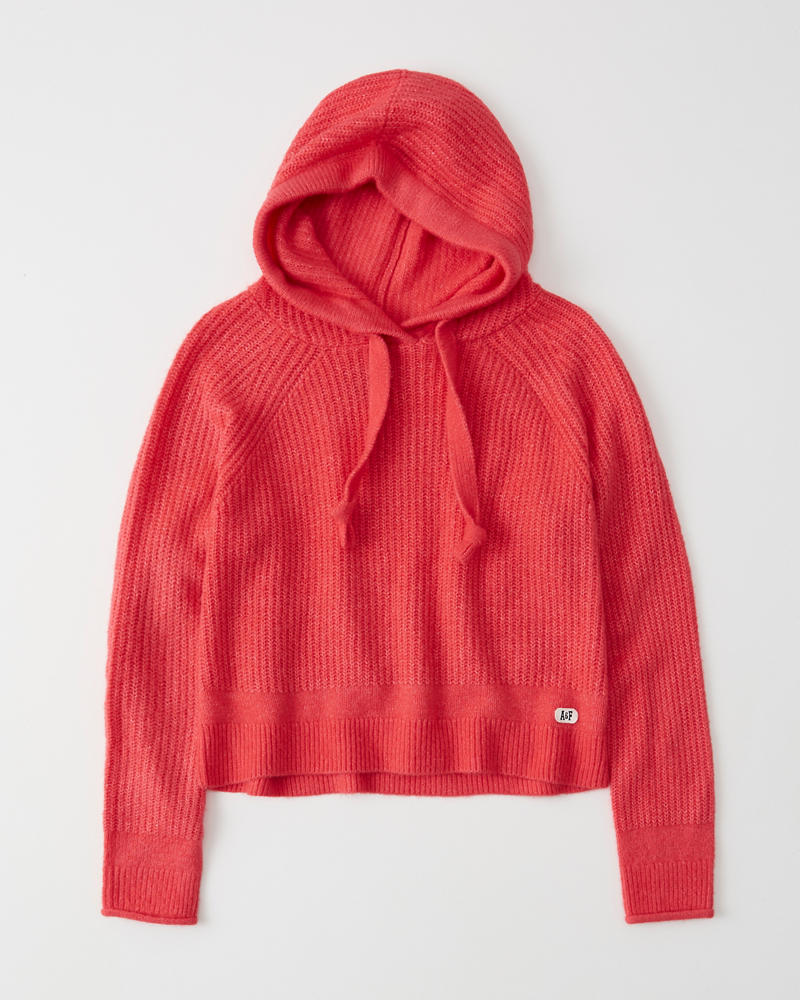 a35e336671ab Womens Fuzzy Hooded Sweater | Womens Clearance | Abercrombie.com