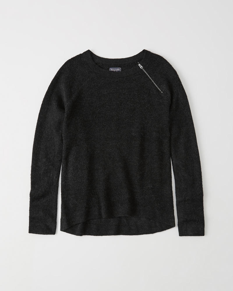 Womens Pullover Zipper Crew Sweater  ad7709a3d