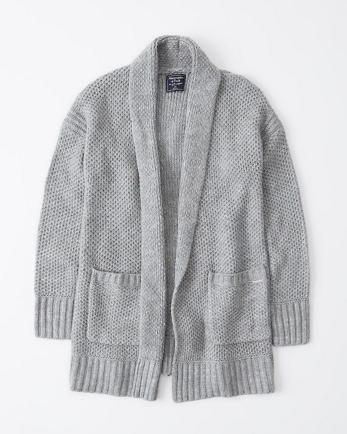 ANFShawl Open-Front Cardigan