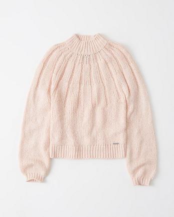 ANFFuzzy Mock Neck Sweater