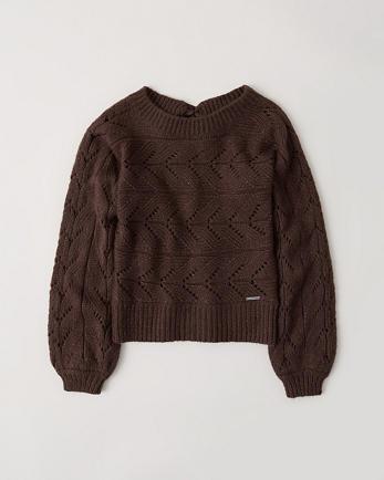 ANFSatin Bow-Back Sweater