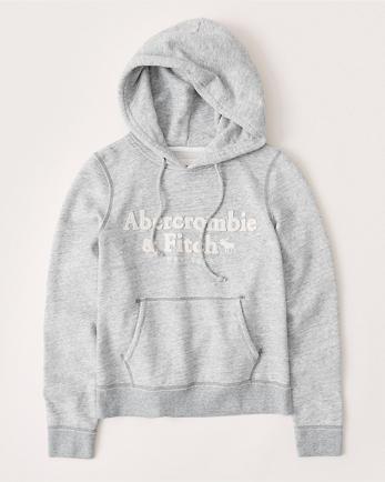 ANFApplique Logo Hoodie
