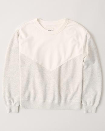 ANFColorblock Crewneck Sweatshirt
