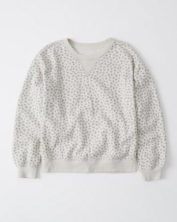 ANFAnimal Print Crewneck Sweatshirt