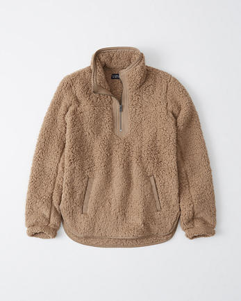 ANFSherpa Fleece Half-Zip Sweatshirt