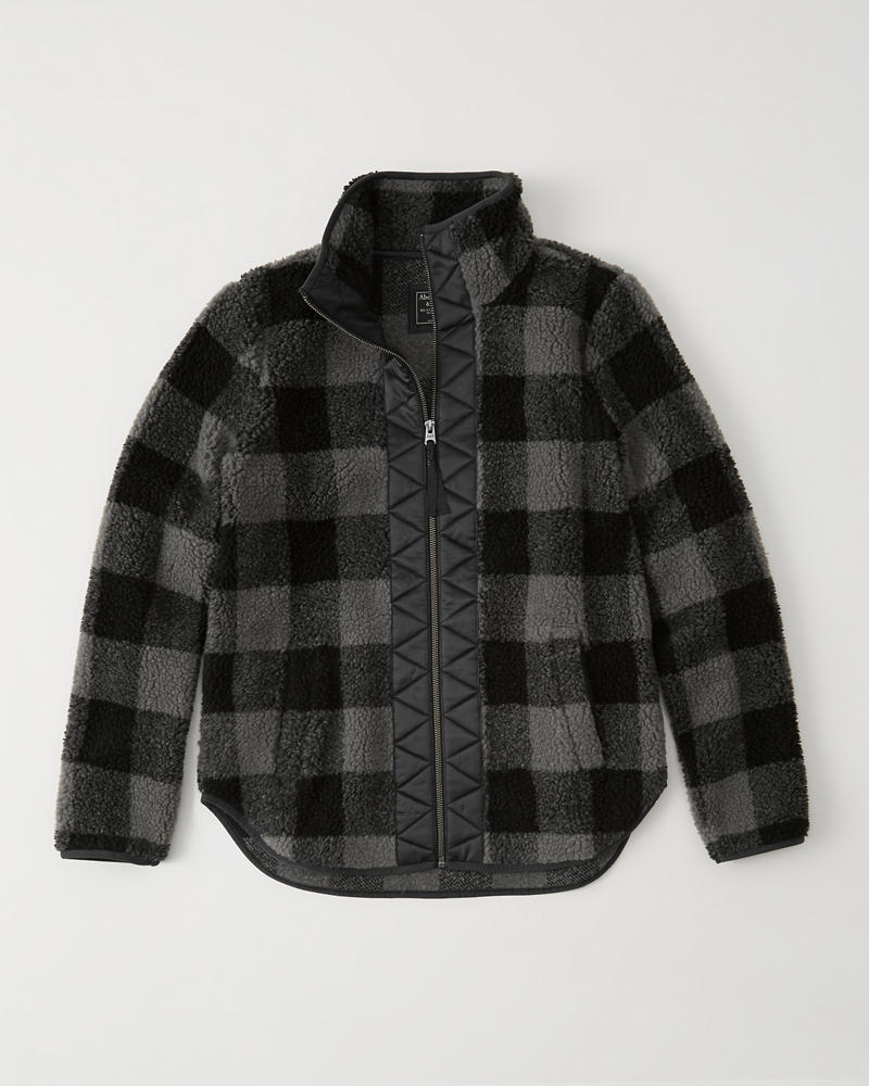 Quilted Sherpa Jacket by Abercrombie & Fitch