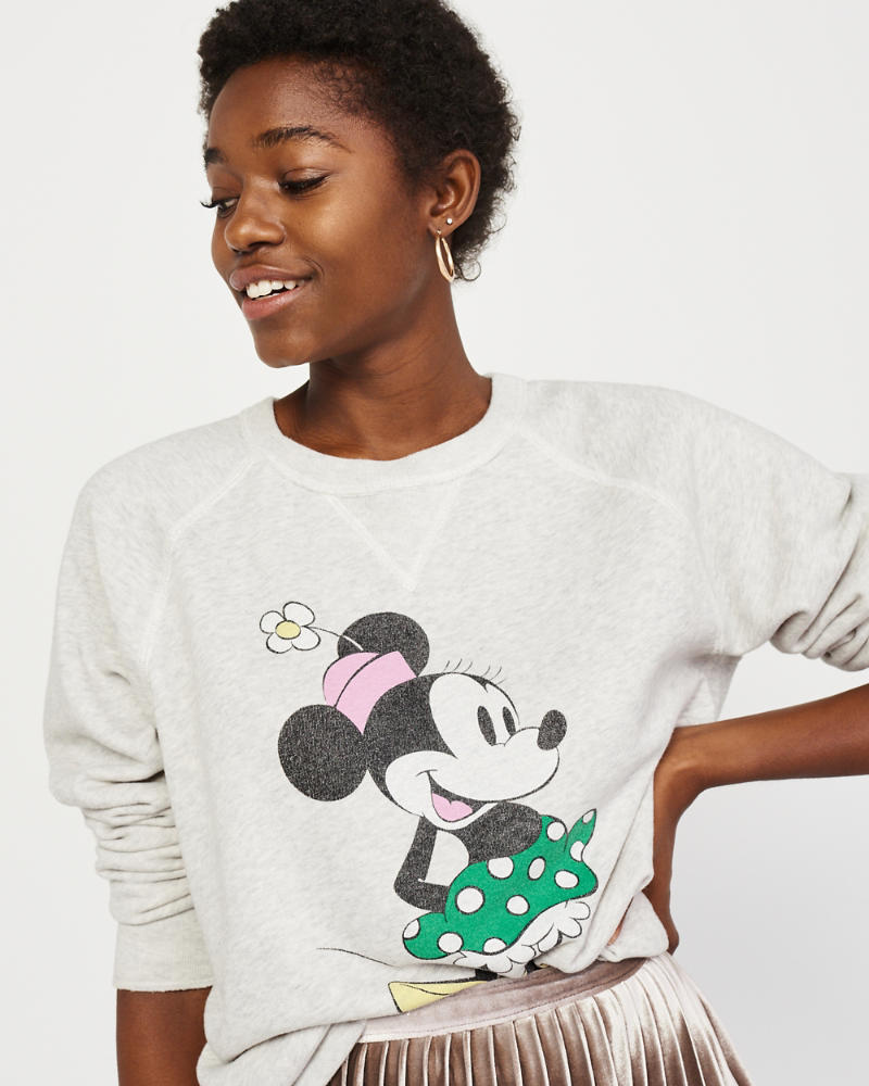 Minnie Crewneck Sweatshirt by Abercrombie & Fitch