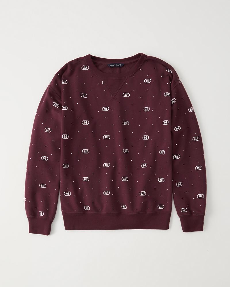 Womens Printed Crewneck Sweatshirt  ef3694a1b6