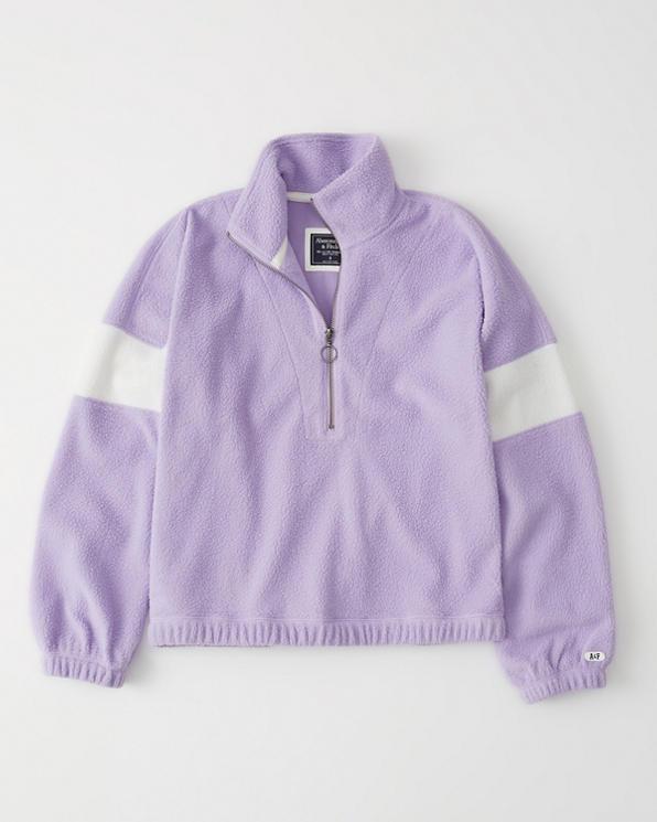 a2db8807 Womens Colorblock Sherpa Half-Zip Sweatshirt | Womens Clearance ...