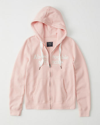 Abercrombie & Fitch Zip Up Logo Hoodie